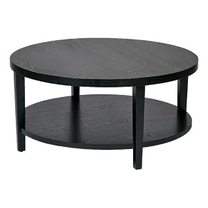 Merge Black Round Coffee Table