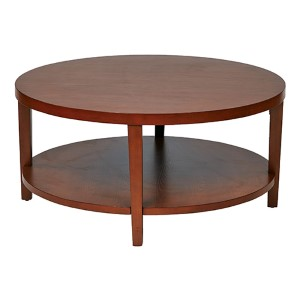 Merge Cherry Veneer Round Coffee Table