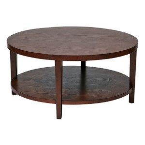 Merge Mahogany Round Coffee Table