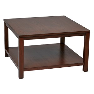 Merge Mahogany Square Coffee Table