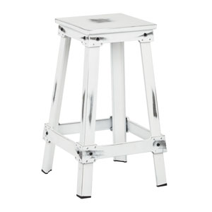 New Castle Antique White 26-Inch Barstool