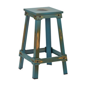 New Castle Antique Turquoise 26-Inch Barstool