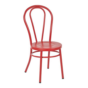 Odessa Red Metal Dining Chair, Set of 2