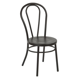 Odessa Frosted Black Metal Dining Chair, Set of 2