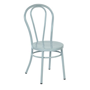 Odessa Turquoise Metal Dining Chair, Set of 2