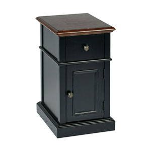 Black Two Tone Side Table