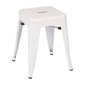Patterson White 18-Inch Metal Stool, Set of 2
