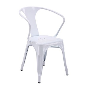 Patterson White 30-Inch High Metal Chair, Set of 2
