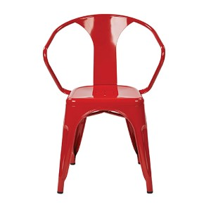 Patterson Red 30-Inch High Metal Chair, Set of 2