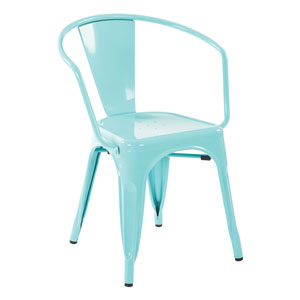 30-Inch Metal Chair in Mint Finish, Set of 4