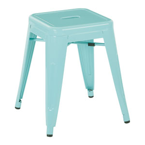 Patterson 18-Inch Metal Backless Barstool in Mint Finish, Set of 4