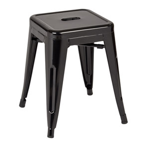 Patterson Black 18-Inch Metal Stool, Set of 2