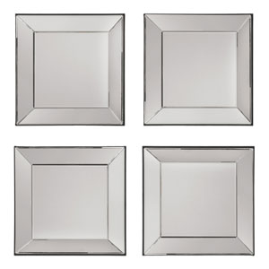 Silver 4 Piece Wall Mirror Set