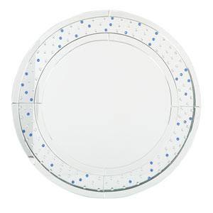 Silver Frame Round Mirror