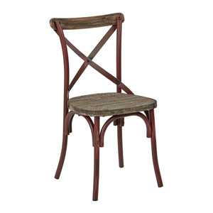 Somerset Red X-Back Metal Chair