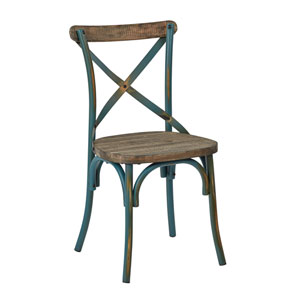 Somerset Turquoise X-Back Metal Chair