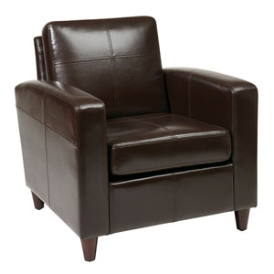 Venus Espresso Eco Leather Club Chair