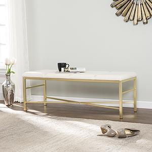 Orinda Ivory and Gold Bench