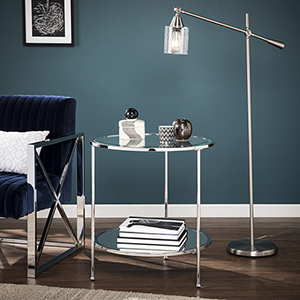 Risa Chrome End Table