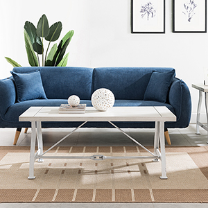 Jacinto Distressed White Coffee Table