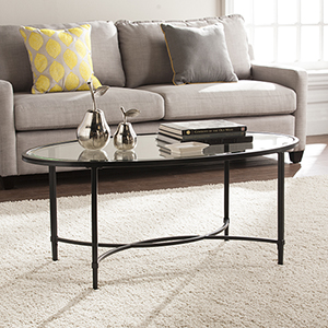 Quinton Painted Black Coffee Table