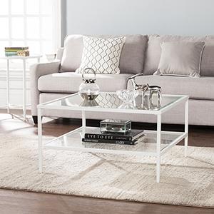 Keller Soft White Cocktail Table