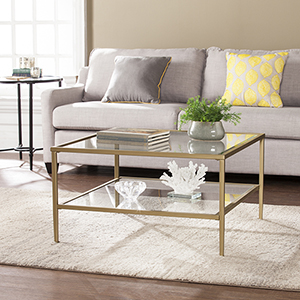 Keller Gold with Light Sheen Cocktail Table