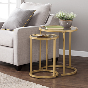 Evelyn Gold Nesting Tables