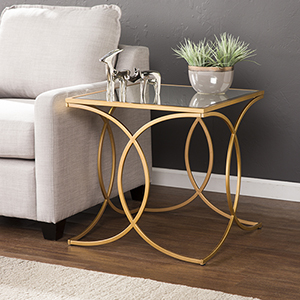 Denise Eclectic and Glam End Table
