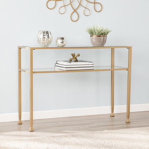 Jaymes Soft Gold 43-Inch Console Table