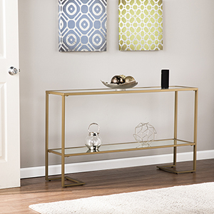 Horten Gold Console Table