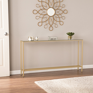 Darrin Metallic Gold Console Table