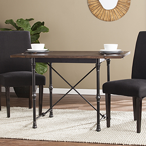 Bradford Weathered Umber with Rustic Black Dining Table