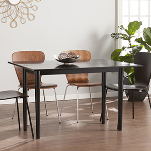 Carlow Satin Black Dining Table