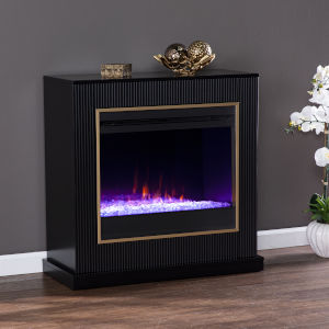 Crittenly Black Color Changing Electric Fireplace
