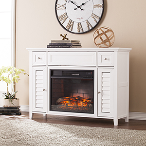 Fairbury White Infrared Fireplace