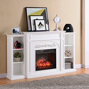 Chantilly White Infrared Fireplace