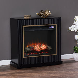 Crittenly Black Electric Fireplace