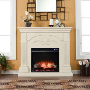 Sicilian Ivory Electric Fireplace