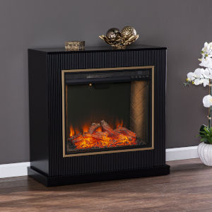 Crittenly Black Alexa Smart Fireplace