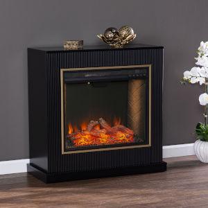 Crittenly Black Alexa Smart Fireplace