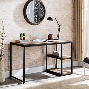 Garviston Rustic Black Desk
