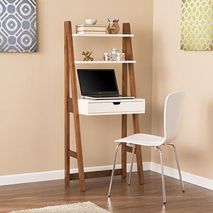 Baysdale White with Weathered Oak Desk