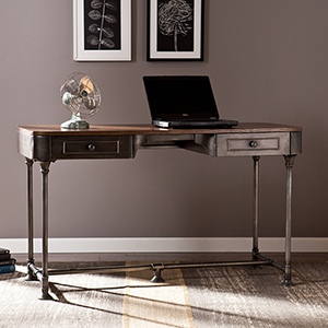 Edison Dark Tobacco Desk