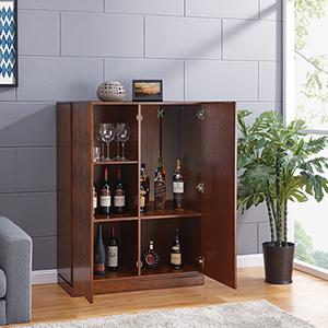 Wykmer Dark Sienna Bar Cabinet