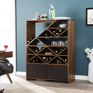 Milliman Dark Tobacco and Black Bar Cabinet