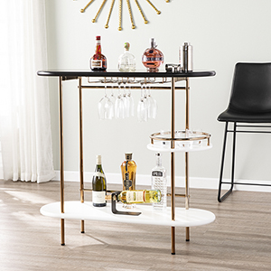 Dagney Black and White Bar Cart