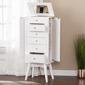 Wesley White Jewelry Armoire