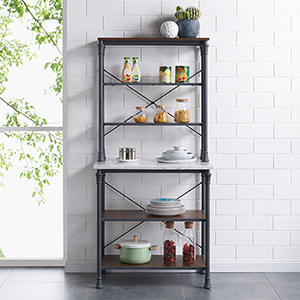 Pender Rustic Gray Bakers Rack