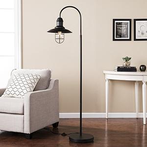 Pinsley Matte Black LED Floor Lamp